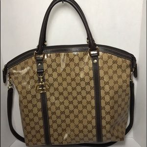 6967fff90a01 Gucci. GUCCI Large Crystal Coated Should/Tote Bag